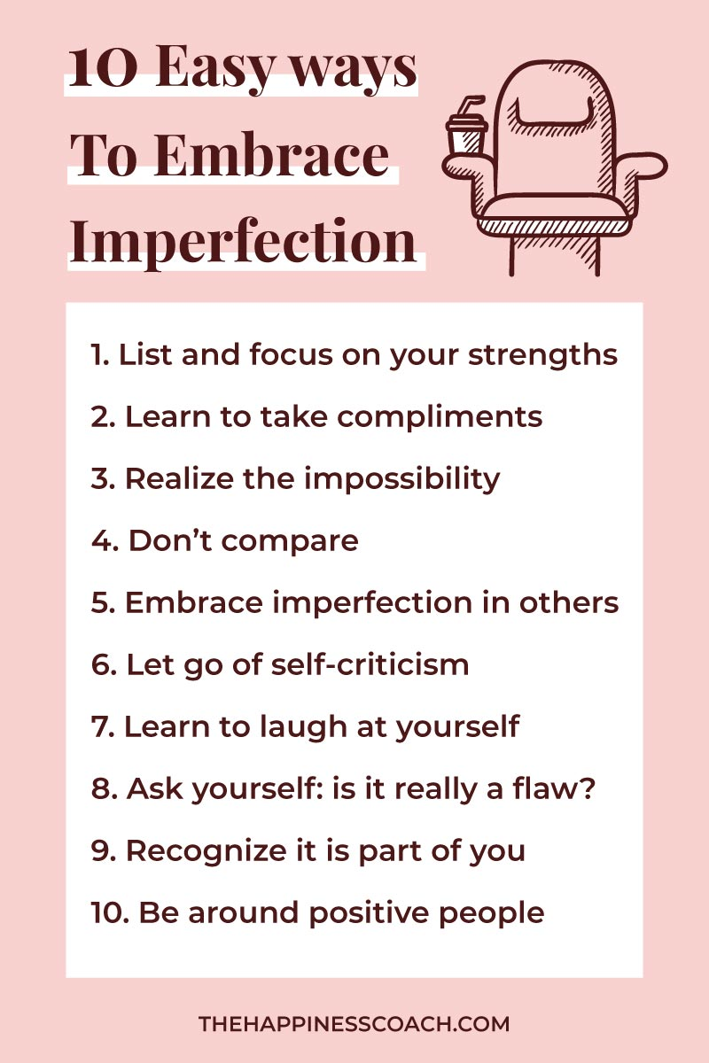 list ofthe 10 ways to accept your imperfections