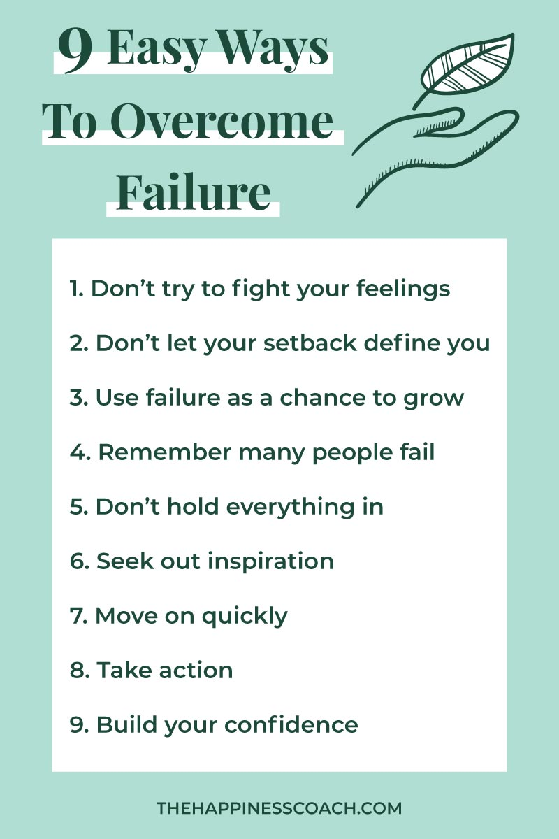 list of tips to handle failure