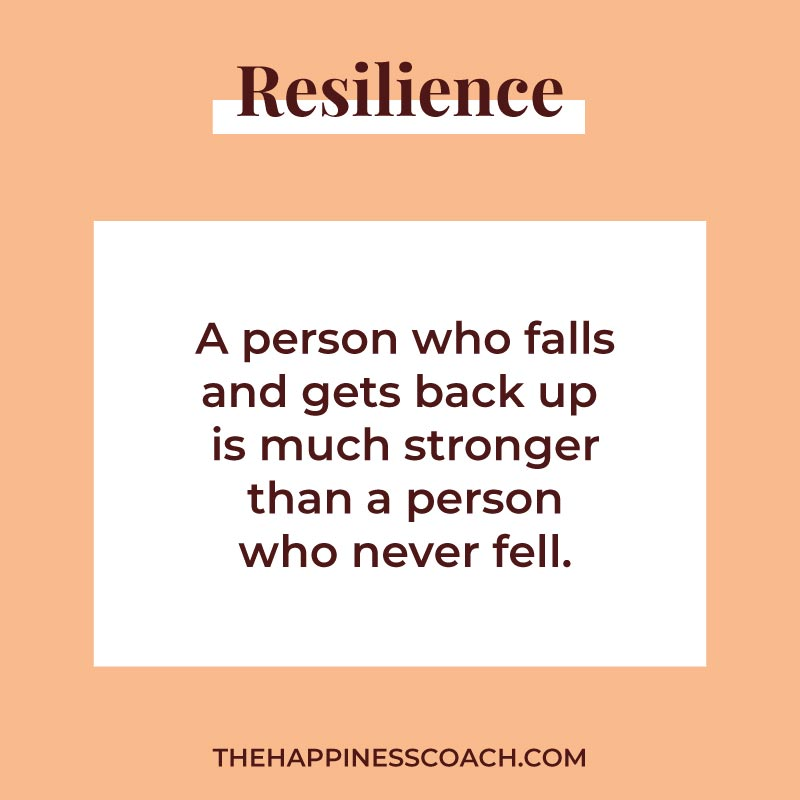 a person who falls and gets back up is much stronger than a person who never fell