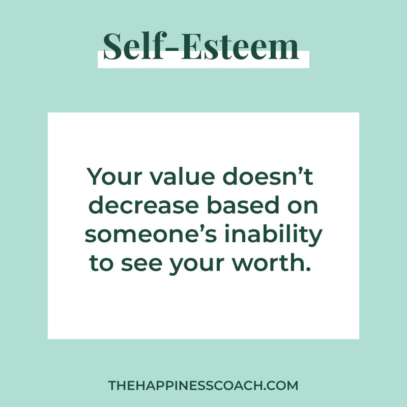 Your value doesn't decrease based on someon's inability to see your worth
