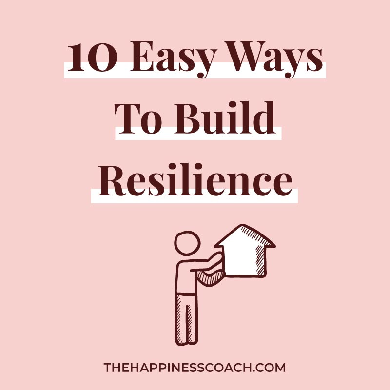 Resilience illustration with an arrow