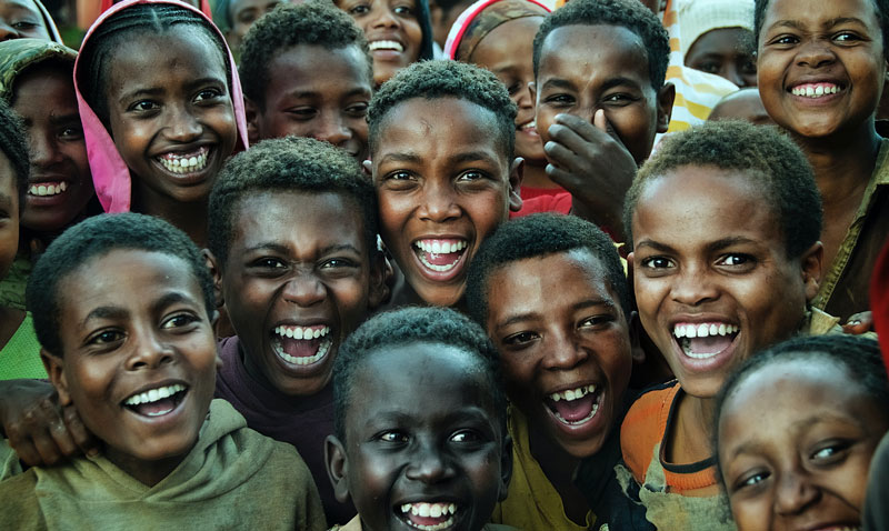 black-children-smiling