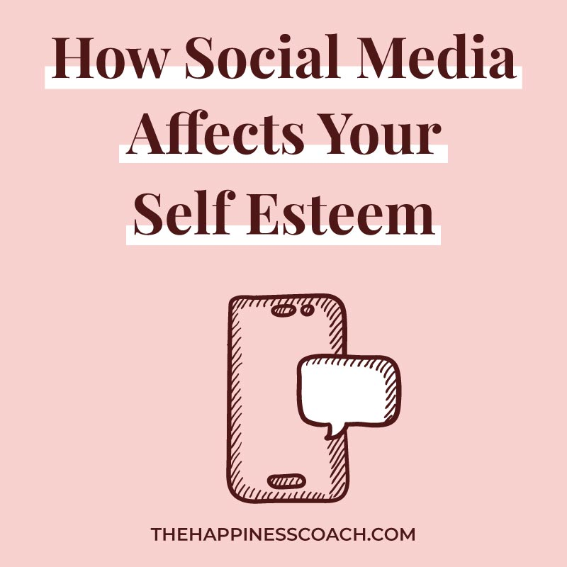 How social media affecting your self esteem illustration